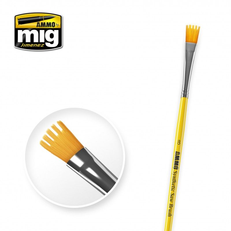 Ammo by Mig - Size 8 Synthetic Saw Brush # MIG-8585