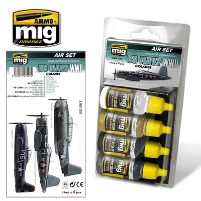 Ammo by Mig - US Navy WWII Colors Acrylic Paint Set # MIG-7207