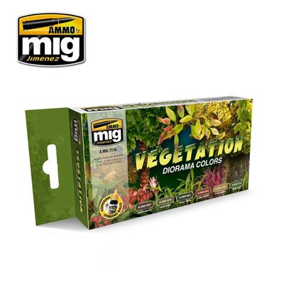 Ammo by Mig - Vegetation Diorama Colors Acrylic Paint Set # MIG-7176