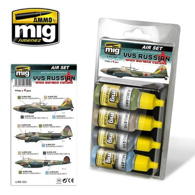 Ammo by Mig - VVS Russian WWII Bomber Colours Acrylic Paint Set # MIG-7224