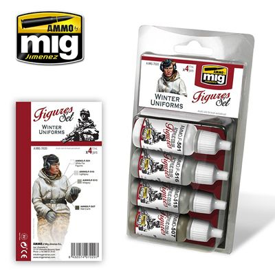 Ammo by Mig - Winter Uniforms (Figures) Acrylic Paint Set # MIG-7020