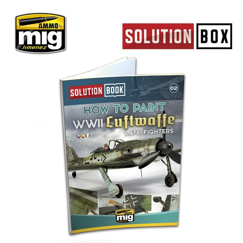 Ammo by Mig - WWII Luftwaffe Late Fighters Solution Book (Multilingual) # MIG-6502