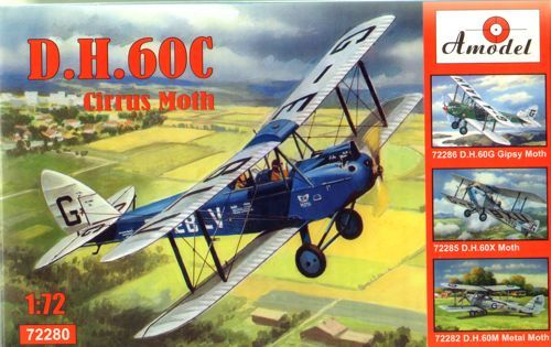Amodel 1/72 DH.60C Cirrus Moth Shuttleworth Collection # 72280