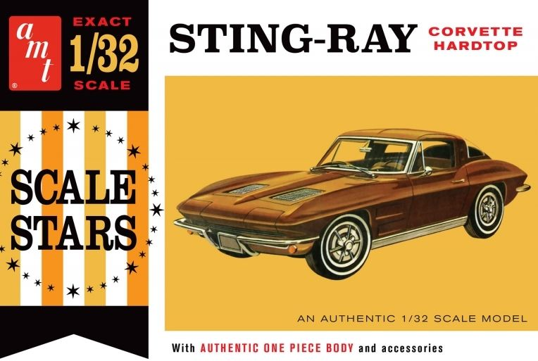 AMT 1/32 1963 Sting-Ray Chevy Corvette Hardtop # 1112