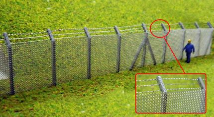 Ancorton OO Gauge Security Fencing with Barbed Wire Top Kit (OOF8) # 95722