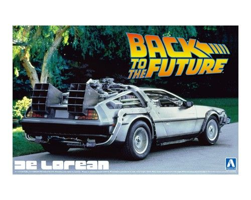 Aoshima 1/24 Back to The Future Part I De Lorean No.8 Plastic Model Kit # 011850