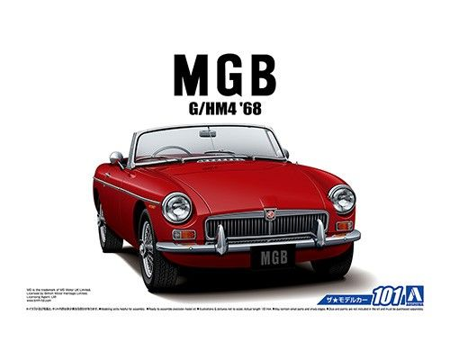 Aoshima 1/24 BLMC G/HM4 MG-B MK-2 '68 No.101 Plastic Model Kit # 056851