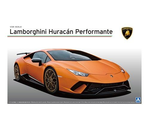 Aoshima 1/24 Lamborghini Huracan Performante No.27 Plastic Model Kit # 056004