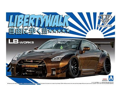 Aoshima 1/24 Liberty Walk Nissan R35 GT-R type 2 Ver. 1 No.12 Plastic Model Kit # 055915