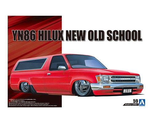 Aoshima 1/24 Toyota YN86 Hilux New Old School '95 No.59 Plastic Model Kit # 057001