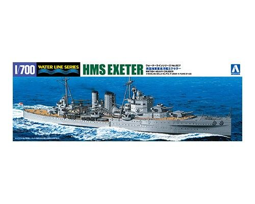 Aoshima 1/700 HMS Exeter British Heavy Cruiser No.807 # 052730