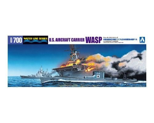 Aoshima 1/700 U.S. Aircraft Carrier Wasp & I.J.N. Submarine I-19 # 010303