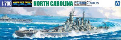 Aoshima 1/700 US Navy Battleship North Carolina # 04600