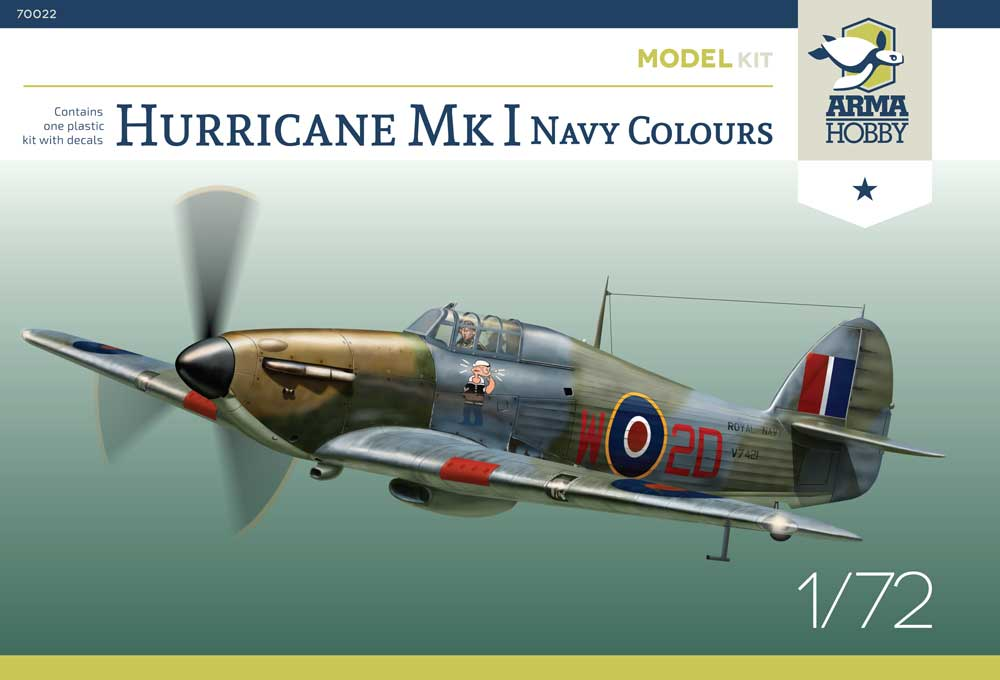 Arma Hobby 1/72 Hawker Hurricane Mk.I Navy Colours with Decals # 70022