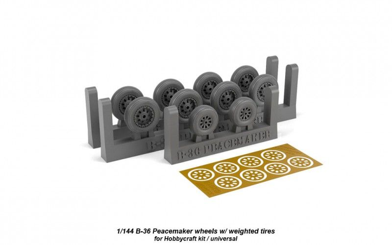 Armory 1/144 Boeing B-36B/D Peacemaker Wheels with Weighted Tires # 14301