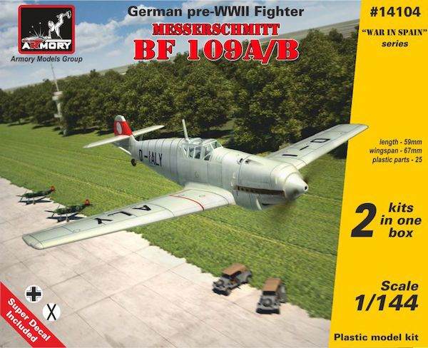 Armory 1/144 Messerschmitt Bf-109A/B German Pre-WWII Fighter (2 in 1) # 14104