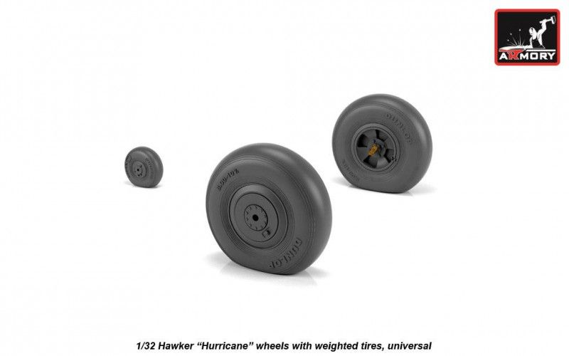 "Armory 1/32 Hawker ""Hurricane"" Wheels with Weighted Tires (Universal) # AW32403"