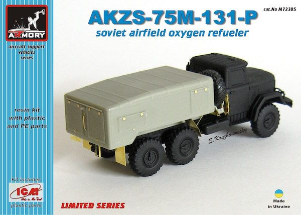 Armory 1/72 AKZS-75M-131-P Soviet Airfield Oxygen Refueller Resin Kit # 72305A
