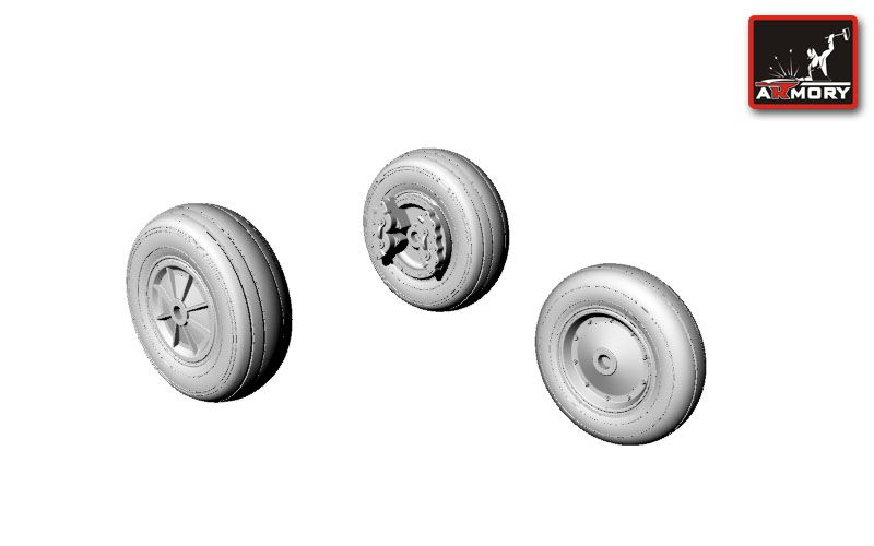 Armory 1/72 North-American T-28 Trojan Wheels # 72304