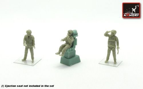 Armory 1/72 Soviet Pilots (Modern Frontline Aviation) - 3 Figures (Resin) # 7212