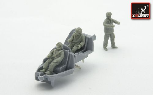 Armory 1/72 Soviet (Post WWII) Helicopter Crew (Resin) # 7205