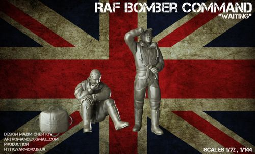 "Armory 1/72 ""Waiting..."" WWII RAF Bomber Command (2 Resin Figures) # 7224C"