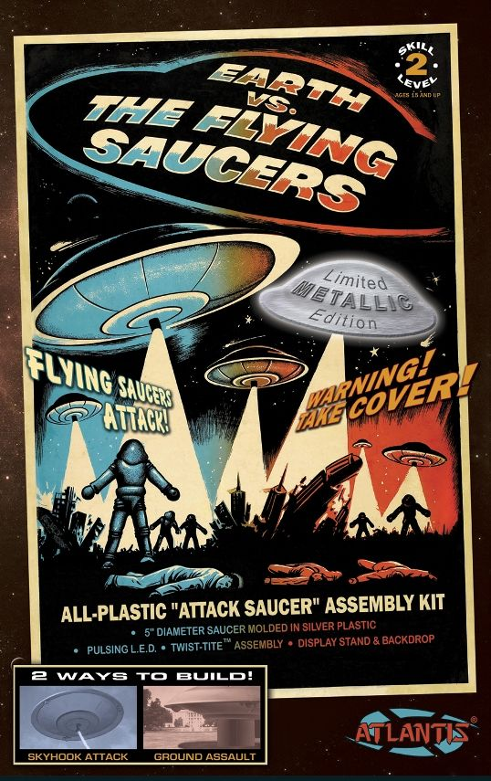 "Atlantis 5"" Earth vs. The Flying Saucers (Limited Metallic Edition) # AMC1005S"