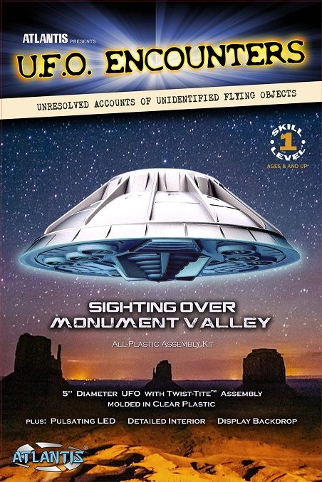 "Atlantis 5"" U.F.O. Encounters Sighting over Monument Valley (Clear) # AMC-1007"