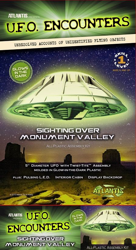 "Atlantis 5"" U.F.O. Encounters Sighting over Monument Valley (Glow in the Dark) # AMC-1007G"