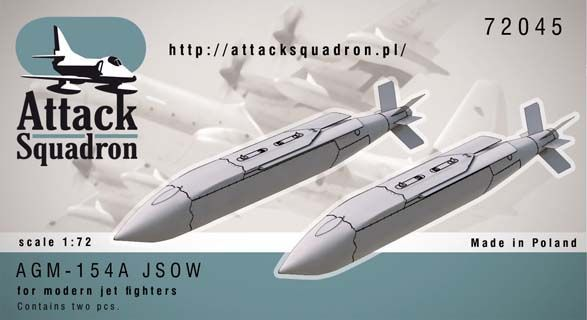 Attack Squadron 1/72 AGM-154 JSOW A Glide Bomb 2pcs # 72045