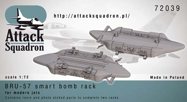 Attack Squadron 1/72 BRU-57 canted Vertical Ejector Rack # 72039