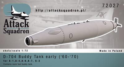 Attack Squadron 1/72 D-704 Buddy Tank Early ('60-'70) 1pc # 7202