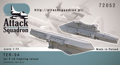 Attack Squadron 1/72 TER9A Triple Ejector Rack for F-16 # 72052