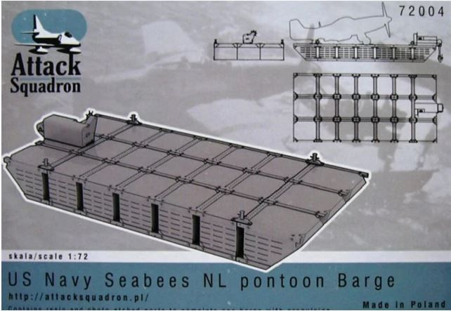 Attack Squadron 1/72 US NAVY Seabees NL Pontoon Barge # 72004