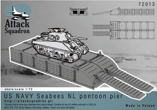 Attack Squadron 1/72 US Navy Seabees Pontoon Pier # 72013