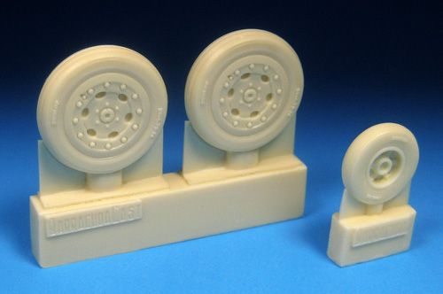 Barracuda 1/48 Hawker Hunter F.4/F.6 Main and Nose Wheels # 48406