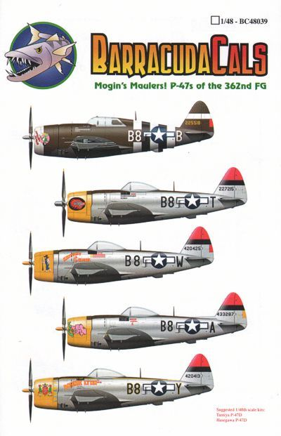 Barracuda 1/48 Republic P-47D Thunderbolts of the 379th FS/362nd