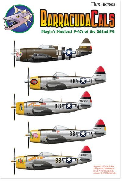 Barracuda 1/72 Republic P-47D Thunderbolts of the 379th FS/362nd