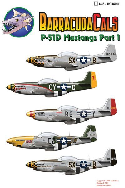 Barracuda Decals 1/48 North-American P-51D Mustangs of the 8th Air Force # 48011