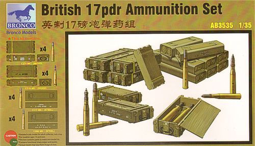Bronco 1/35 British 17pdr Ammunition Set # AB3535