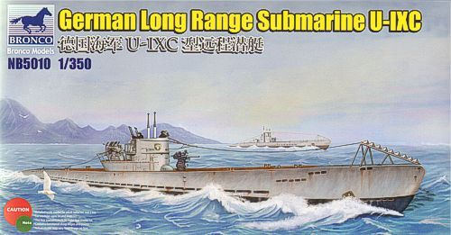Bronco 1/350 German Long Range Submarine U-IXC # NB5010