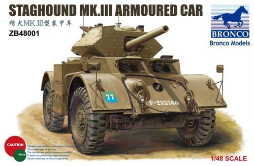 Bronco 1/48 Staghound Mk.III Armoured Car # ZB48001