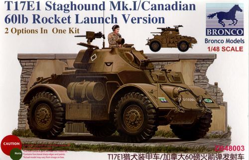 Bronco 1/48 T17E1 Staghound Mk.I/Canadian 60lb Rocket Launch Version # ZB48003