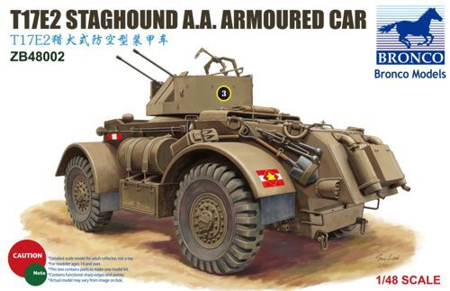 Bronco 1/48 T17E2 Staghound A.A. Armoured Car # ZB48002