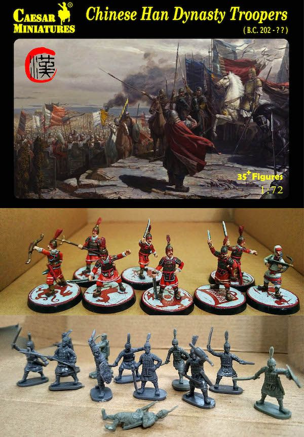 Caesar Miniatures 1/72 Chinese Han Dynasty Troopers # 043