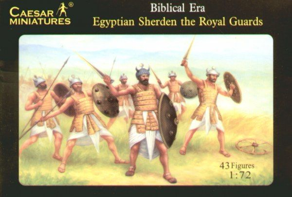 Caesar Miniatures 1/72 Egyptian Sherden Warriors and the Royal G