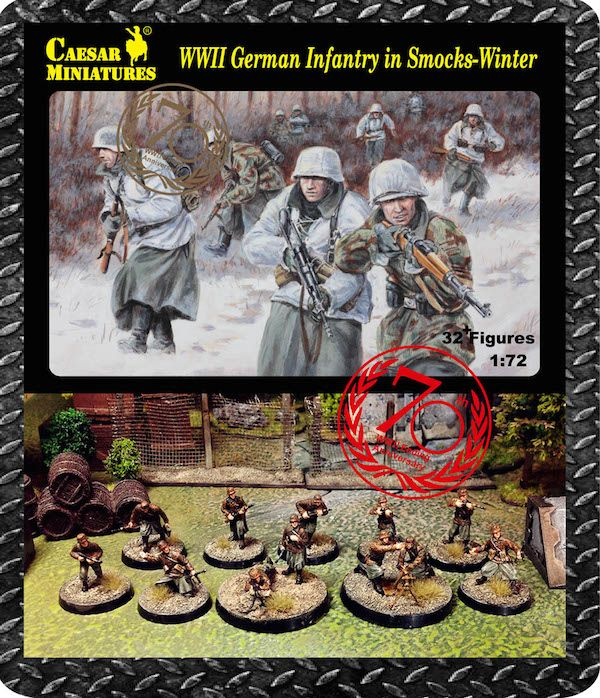 Caesar Miniatures 1/72 German Infantry Wearing Winter Smocks (WW