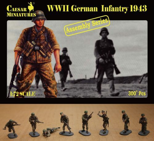 Caesar Miniatures 1/72 WWII German Infantry 1943 # 7711