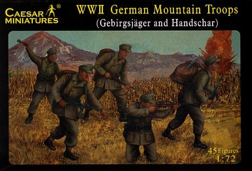 Caesar Miniatures 1/72 WWII German Mountain Troops (Gebirgsjager