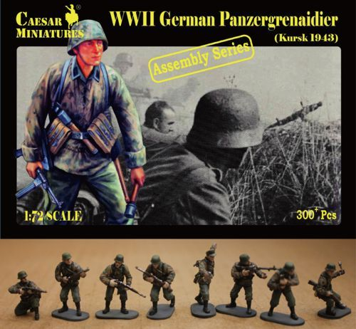 Caesar Miniatures 1/72 WWII German Panzergrenadier Kursk # 7715